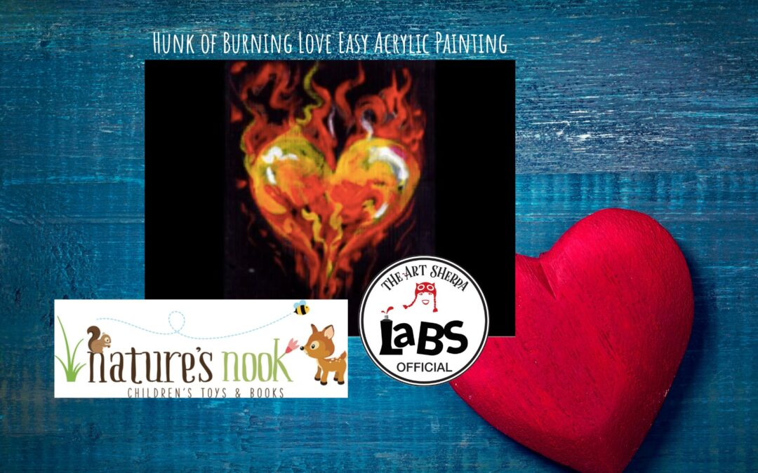 Heart on Fire Easy Acrylic Painting Lesson