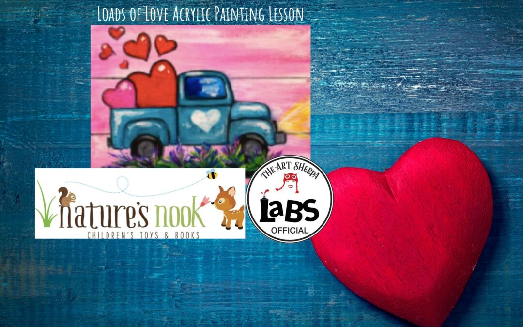 Loads of Love Easy Acrylic Painting Lesson