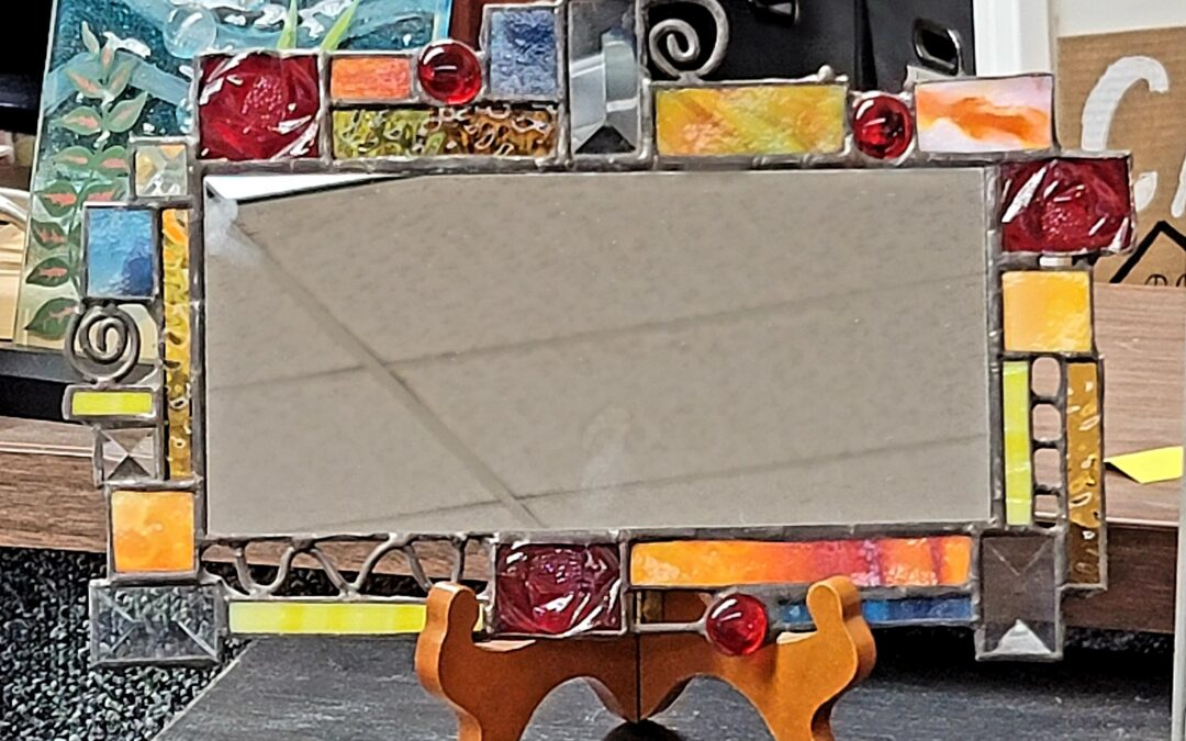 Stained Glass Whimsical Mirror
