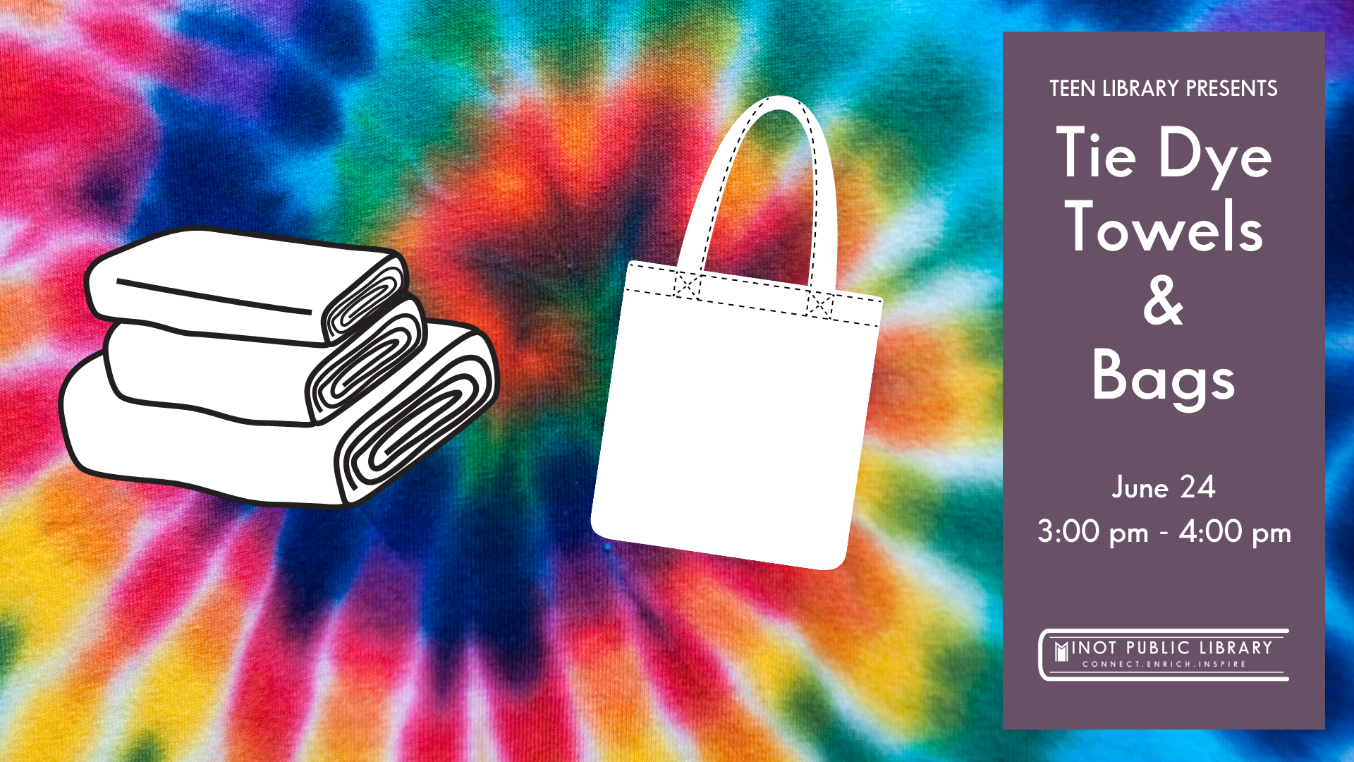 Tie Dye Towels and Bags