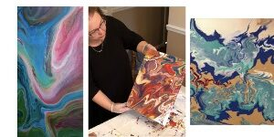 Paint Pouring with artist Nancy Walter