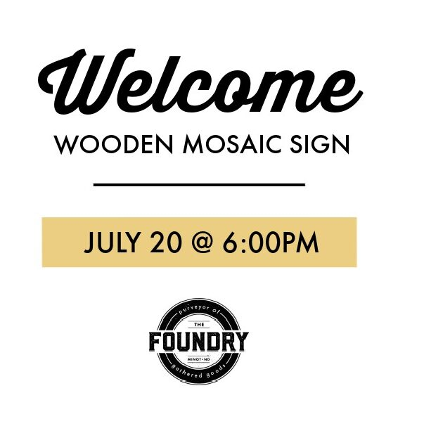Welcome : Wooden Mosaic Sign