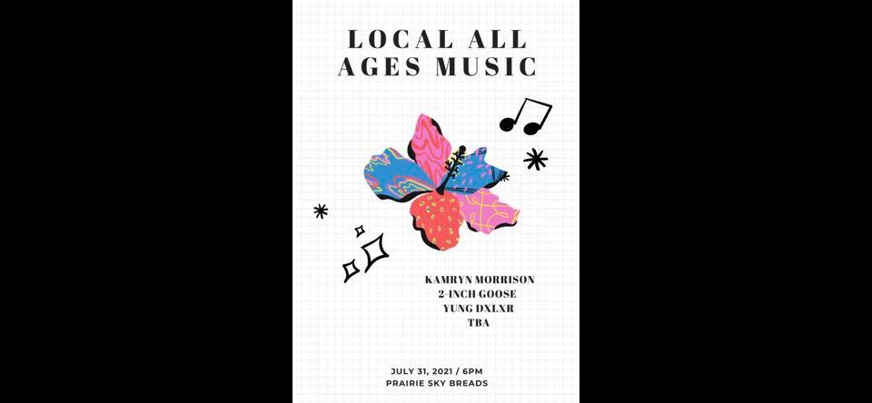 Local All Ages Music- Kamryn Morrison // 2-inch Goose // Dxlxr
