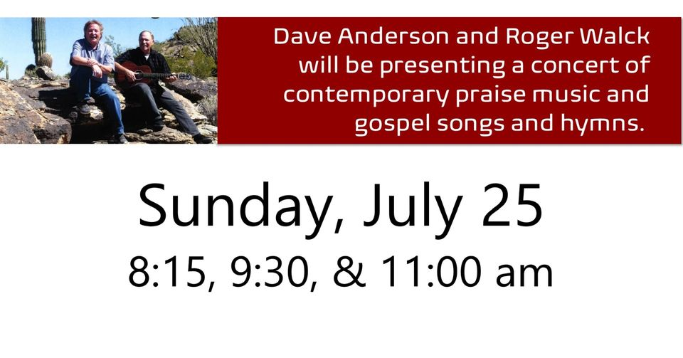 Dave Anderson & Roger Walck in Concert