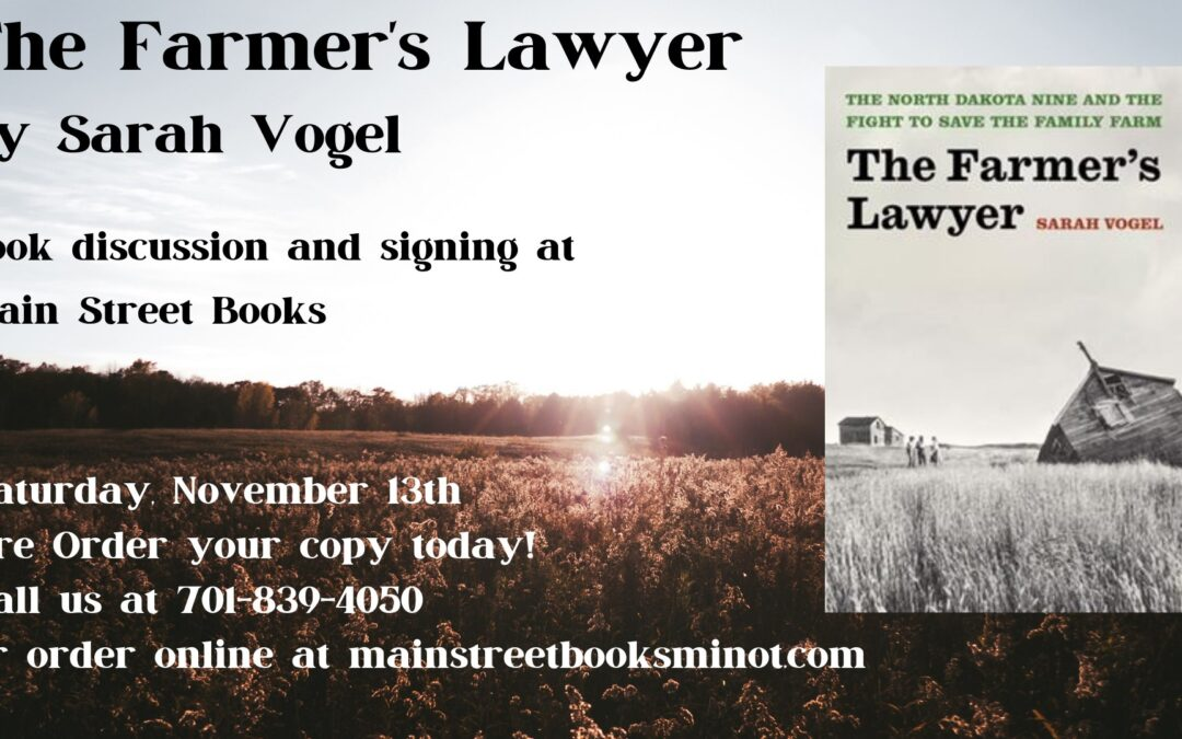 The Farmer's Lawyer by Sarah Vogel Book Signing